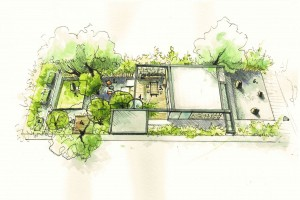 Draft conception of the garden in Palo Alto
